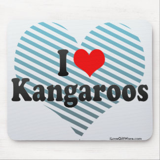 I Love Kangaroos Mouse Pad