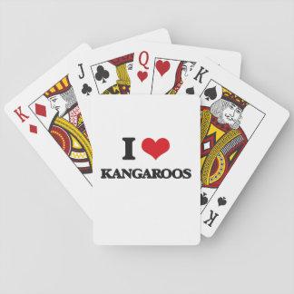 I Love Kangaroos Playing Cards