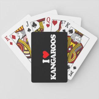 I LOVE KANGAROOS CARD DECK