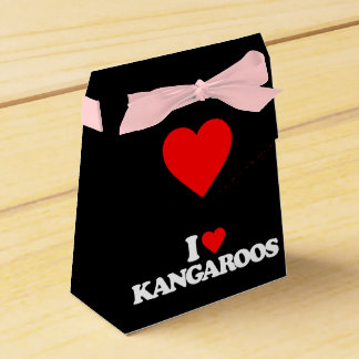 I LOVE KANGAROOS PARTY FAVOR BOXES