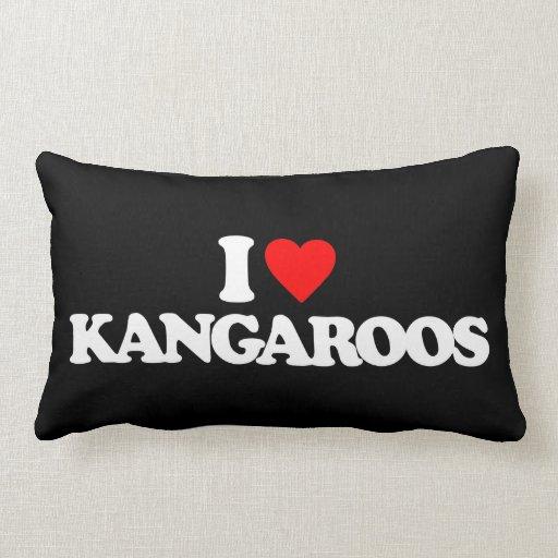 I LOVE KANGAROOS THROW PILLOWS