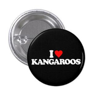 I LOVE KANGAROOS PINS