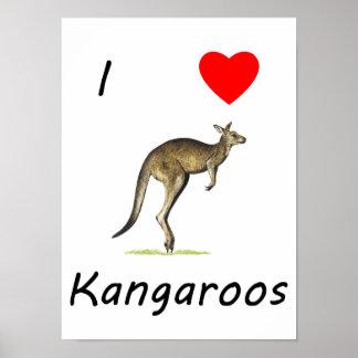 I Love Kangaroos Posters