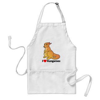 I Love Kangaroos Standard Apron