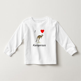 I Love Kangaroos Toddler T-shirt