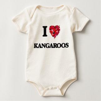 I Love Kangaroos Bodysuits