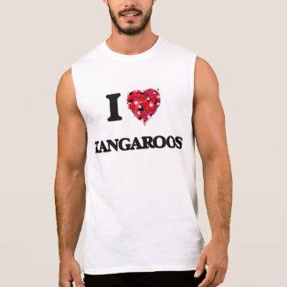 I Love Kangaroos Sleeveless Shirt