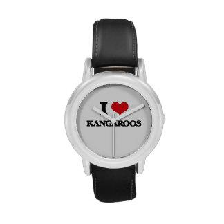 I Love Kangaroos Wrist Watch