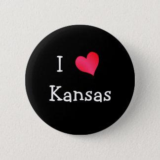 I Love Kansas 2 Inch Round Button