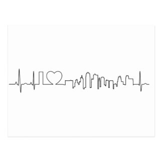 I love Kansas City in an extraordinary ecg style Postcard
