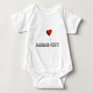 I Love Kansas City with KC Skyline Inside Letters Baby Bodysuit