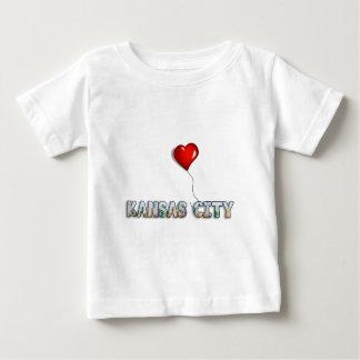 I Love Kansas City with KC Skyline Inside Letters Baby T-Shirt