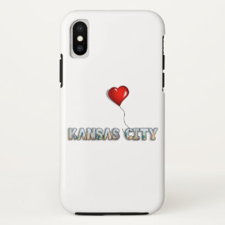 I Love Kansas City with KC Skyline Inside Letters Case-Mate iPhone Case