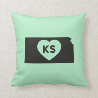 I Love Kansas State Pillow