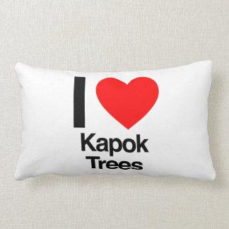 i love kapok trees lumbar pillow