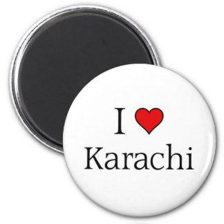 I love Karachi 2 Inch Round Magnet