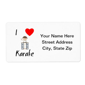 I Love Karate (3) Shipping Label