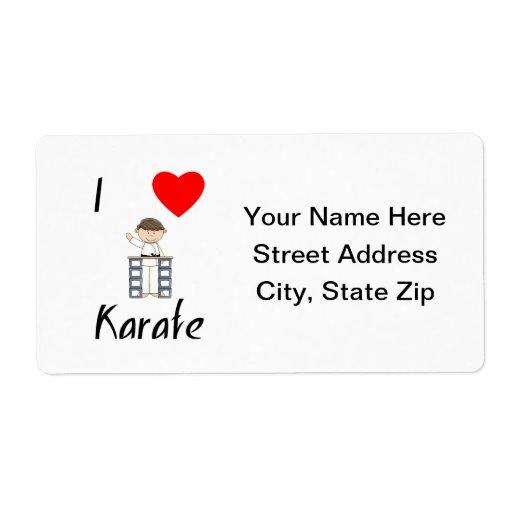 I Love Karate (3) Shipping Label
