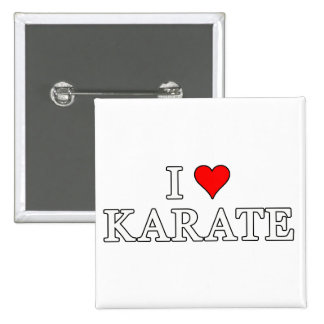I Love Karate Button