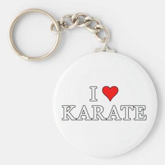 I Love Karate Keychain