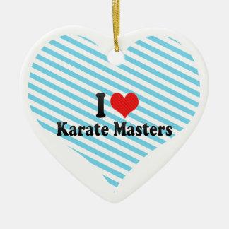 I Love Karate Masters Ceramic Ornament