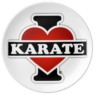 I Love Karate Porcelain Plates
