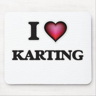 I Love Karting Mouse Pad