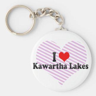 I Love Kawartha Lakes, Canada Basic Round Button Keychain