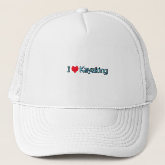 I Love Kayaking Logo Trucker Hat