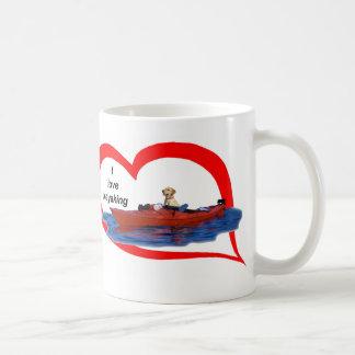 I love kayaking (yellow lab) 1 coffee mug