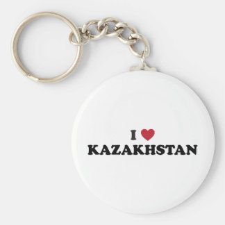 I love Kazakhstan Basic Round Button Keychain