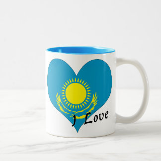 I love Kazakhstan Two-Tone Coffee Mug