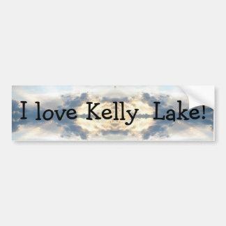 I love Kelly  Lake Sunset Collage Bumper Sticker