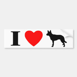 I Love Kelpies Bumper Sticker