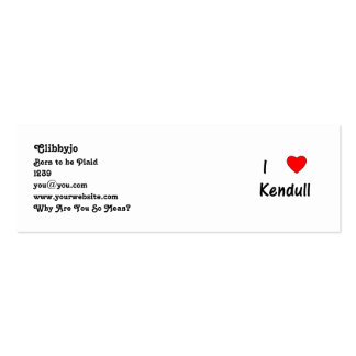 I Love Kendull Business Cards