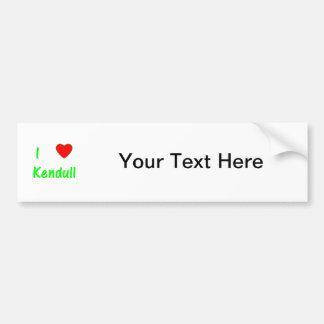 I Love Kendull Car Bumper Sticker