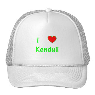 I Love Kendull Mesh Hats