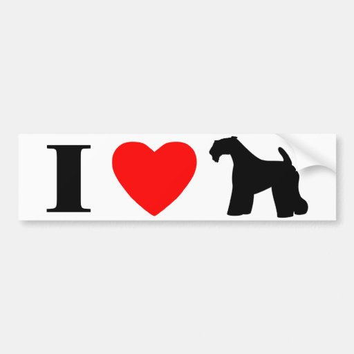 I Love Kerry Blue Terriers Bumper Sticker