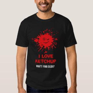 I love ketchup blood splatter shirt