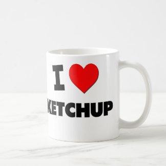 I Love Ketchup Basic White Mug