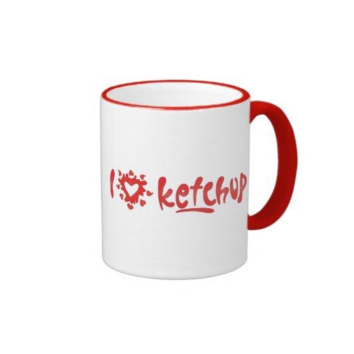 I Love Ketchup Coffee Mugs