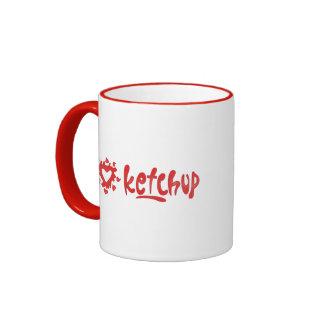 I Love Ketchup Ringer Mug