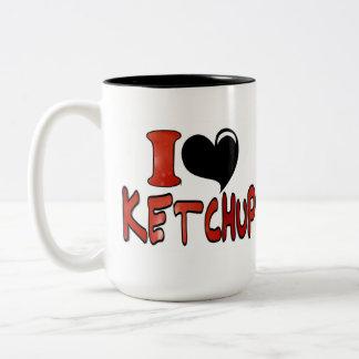 I Love Ketchup Two-Tone Coffee Mug