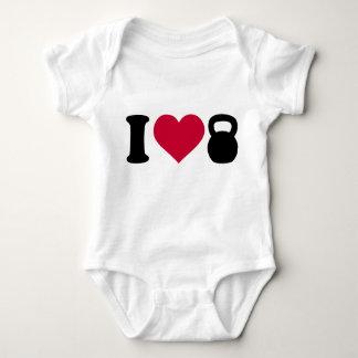 I love Kettlebell Baby Bodysuit