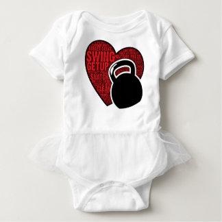 I LOVE KETTLEBELL DESIGN BABY BODYSUIT