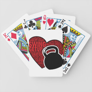 I LOVE KETTLEBELL DESIGN BICYCLE PLAYING CARDS