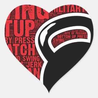 I LOVE KETTLEBELL DESIGN HEART STICKER