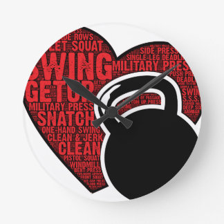 I LOVE KETTLEBELL DESIGN ROUND CLOCK