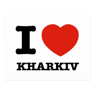 I Love Kharkiv Postcard