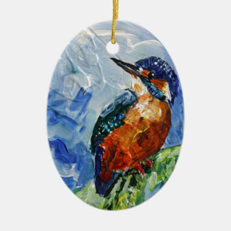 I love Kigfishers Ceramic Ornament